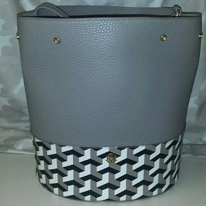 Dagne Dover Ava Bucket tote with clutch